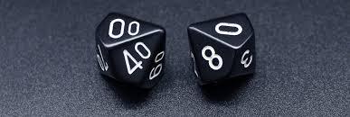 a set of black percentile dice