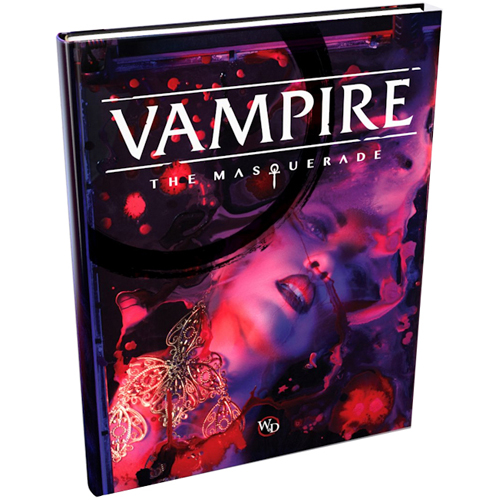 A photo of the Vampire the Masquerade rulebook V5 made by World of Darkness