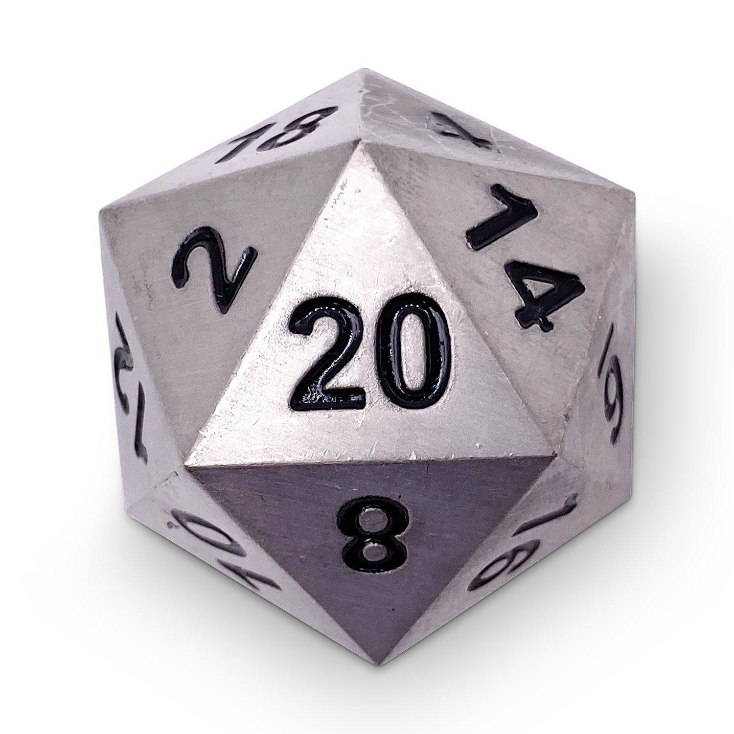 Metallic d20 die looking awesome (if you don't mind me sayin')